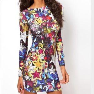ASOS multi-color stars mini dress